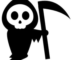 art, scythe, and folklore image