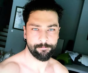 actor, blue eyes, and beard image