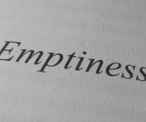 emptiness and text image