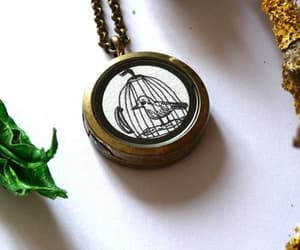 bird necklace, etsy, and original gifts image
