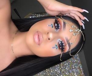 beauty, eyes, and gems image