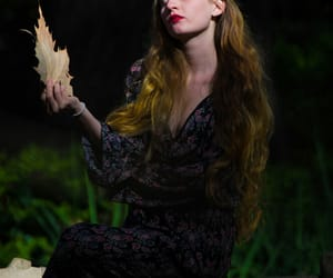 actress, forest, and shadows image