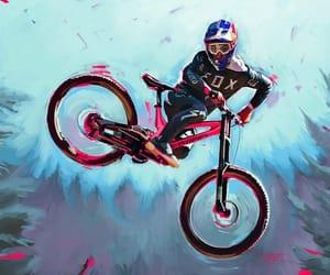 bike, fox, and biker image