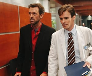 wilson, drhouse, and hughlaurie image