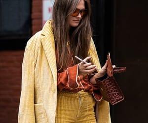 corduroy, fashion, and hand bag image