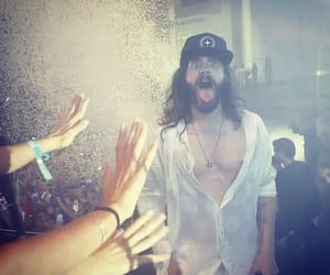 30 seconds to mars, tongue out, and jared leto image