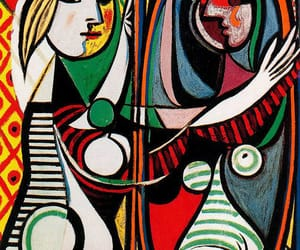 art, Pablo Picasso, and girl in front of mirror image
