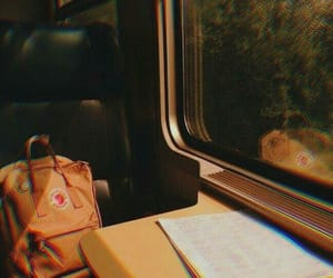 yellow, train, and aesthetic image