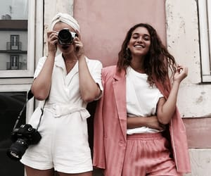 pink, best friends, and chic image