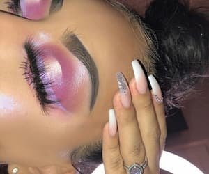 pink, eyebrow, and fashion image
