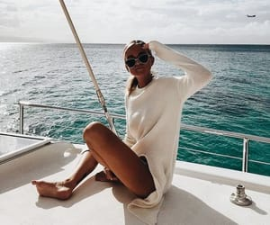 summer, fashion, and ocean image