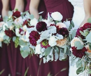 autumn colours, bride to be, and bridesmaids image