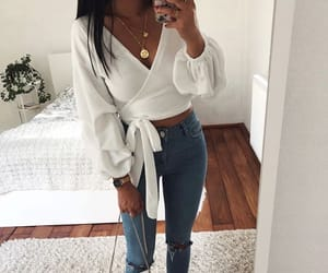 girl, what to wear, and jeans image