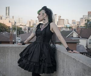 city, gothic-fashion, and gloomth image