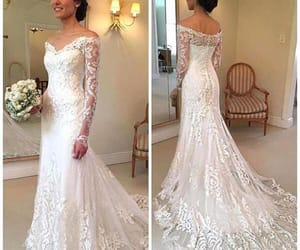 wedding, bride to be, and lace wedding dress image