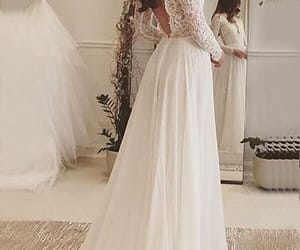 lace dress, to, and wedding image
