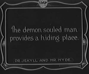 silent movies and dr. jekyll and mr. hyde image