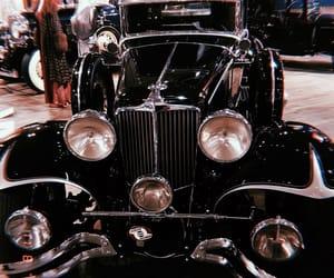 black, car, and old timer image