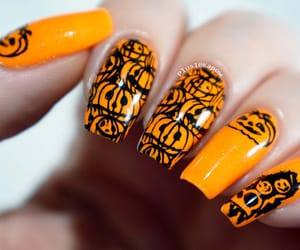 Halloween, neon nails, and notd image