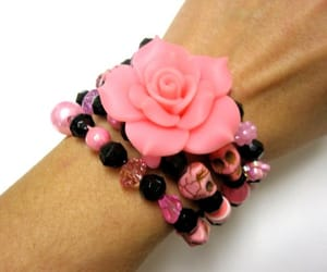 etsy, rose bracelet, and day of the dead image
