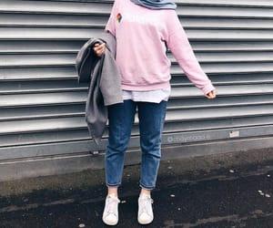 muslim girl, hijab fashion, and hijab style image