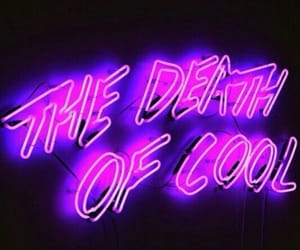 neon, purple, and grunge image