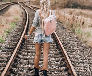 blond girl, photografy, and travel image