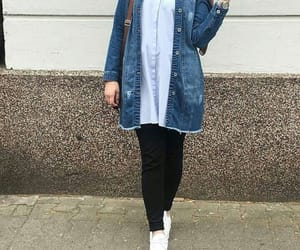 jeans, style, and hijab fashion image