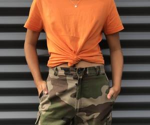 aesthetic, camo, and orange image