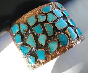 etsy, turquoise bracelet, and vintage jewelry image