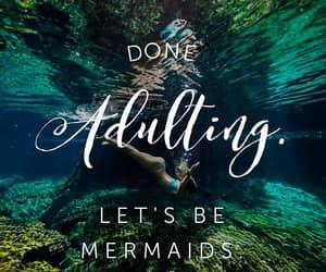 Adult, mermaid, and nature image