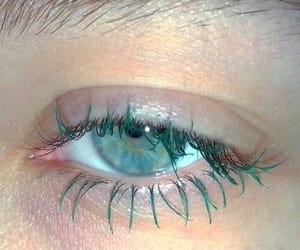 eyes, aesthetic, and green image