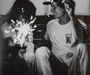 black, couple, and white image