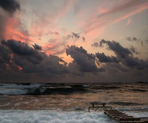 sea, nature, and clouds image