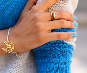 fashion, blue, and nails image