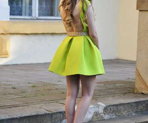 dress, green, and neon image