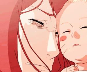 anime, kushina, and baby image