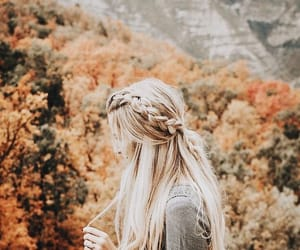 girl, hair, and autumn image