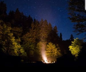 aesthetic, blue, and campfire image
