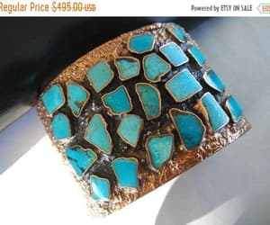 etsy, turquoise bracelet, and native american cuff image