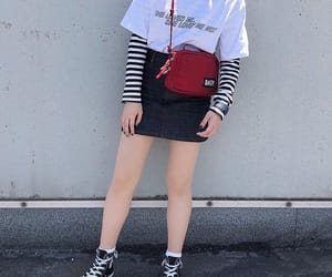 aesthetic, black skirt, and clothes image