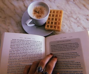 astrology, book, and cappuccino image