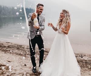 couples, wedding, and happiness image