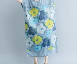 denim dress, large size dress, and etsy image