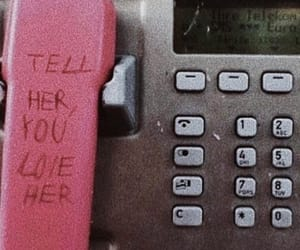 love, pink, and phone image