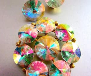 aurora borealis, multi color, and jewelry set image