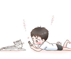 cat, exo, and fanart image