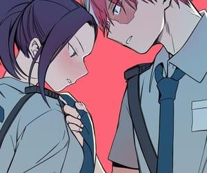 anime, couple, and momo image