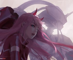 anime girl, wlop, and zero two image