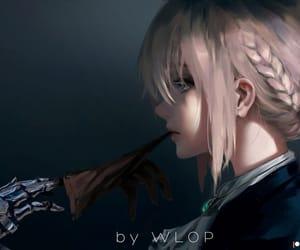 anime girl, anime, and background image